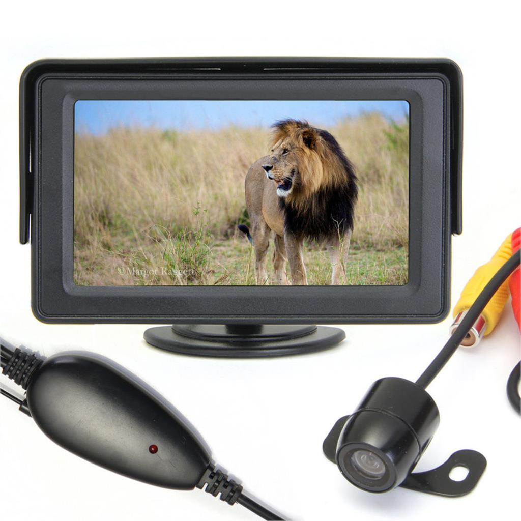 Marsnaska Vente Chaude 4.3 pouces TFT Voiture Écran LCD Sans Fil Vue Arrière Moniteur Caméra De Recul De Sauvegarde