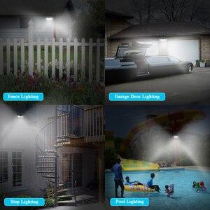 Image 2 - Luces solares LED SEASENXI 68 LEDs tres modos de funcionamiento lámparas de iluminación de jardín al aire libre luces de energía Solar de valla de pared