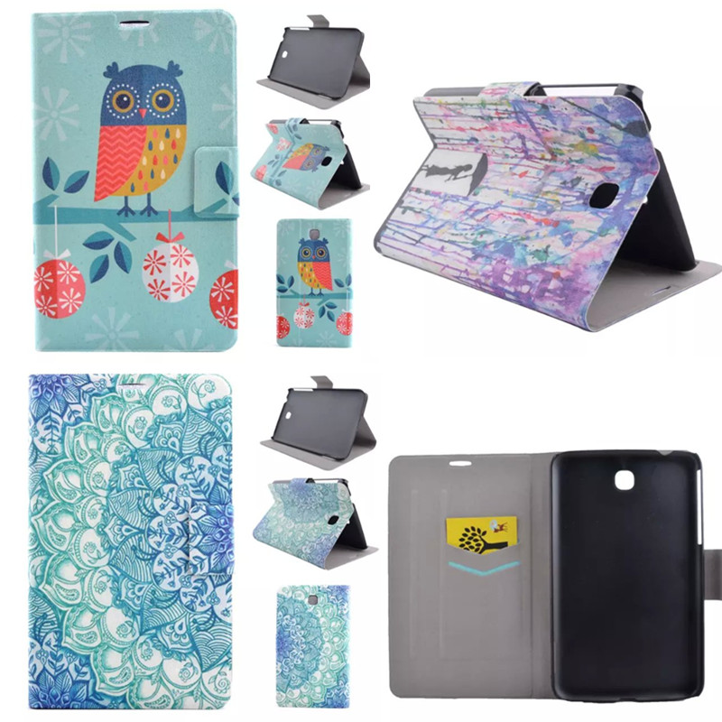 XX Flower OWI Style PU Leather Stand Cover Cases For SAMSUNG Galaxy tab 3 7 0