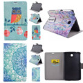 XX Flower OWI Style PU Leather Stand Cover Cases For SAMSUNG Galaxy tab 3 7.0 P3200 P3210 T210 T211  tablet PC