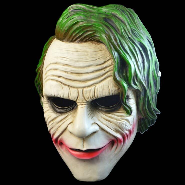 Free Shipping Adult Batman Joker Clown Bank Robber Mask Dark Knight Costume Halloween Masquerade Party Fancy Resin Mask in stock