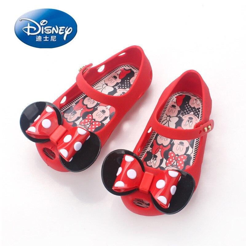 Disney filles chaussures 2019 été sandales enfants chaussures PVC gelée plage chaussures filles princesse chaussures arc filles sabots