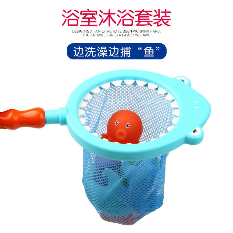 Игрушки для ванной 7 шт. детские пляжные игрушки детские игрушки для игры в воде мягкие резиновые животные игрушки для водных игр для ванны детский душ Акула подарки