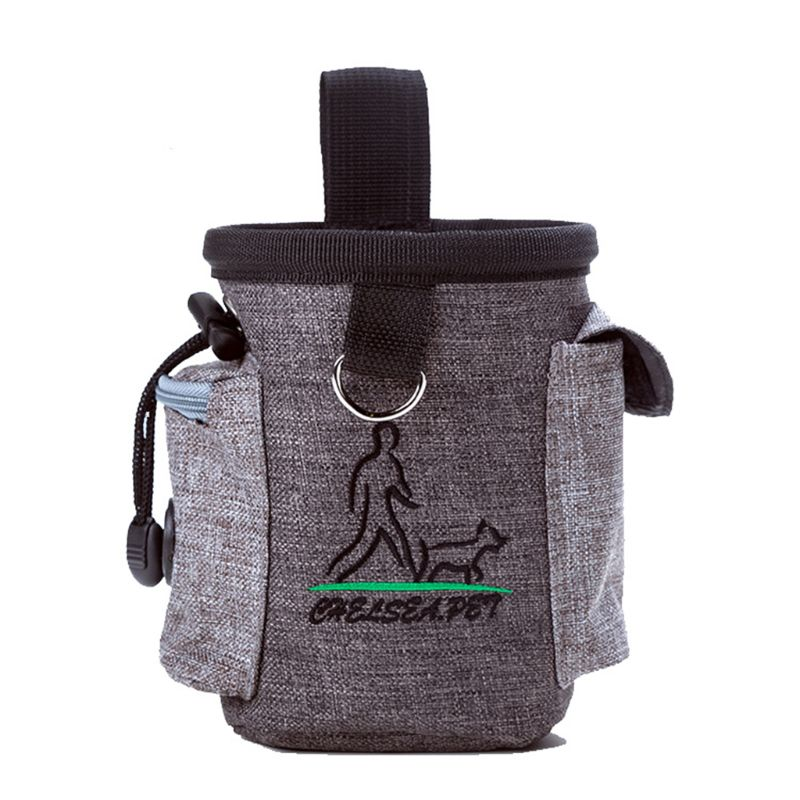 Fashion New Dog Treat Pouch Pet Hands Free Training Waist Bag Drawstring Carries Pet Toys Food Poop Bag Pouch