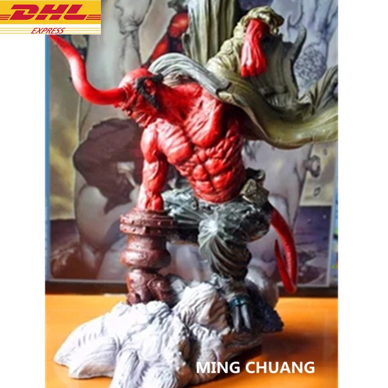 Statue Hellboy Superhero Bust Anung Un Rama Prof Bloom Tutor Full-Length Portrait Resin Action Figure Collectible Model Toy D279 avengers statue superhero captain marvel bust 1 2 ms marvel full length portrait resin action figure collectible model toy w252