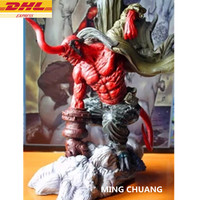 Statue Hellboy Superhero Bust Anung Un Rama Prof Bloom Tutor Full Length Portrait Resin Action Figure Collectible Model Toy D279
