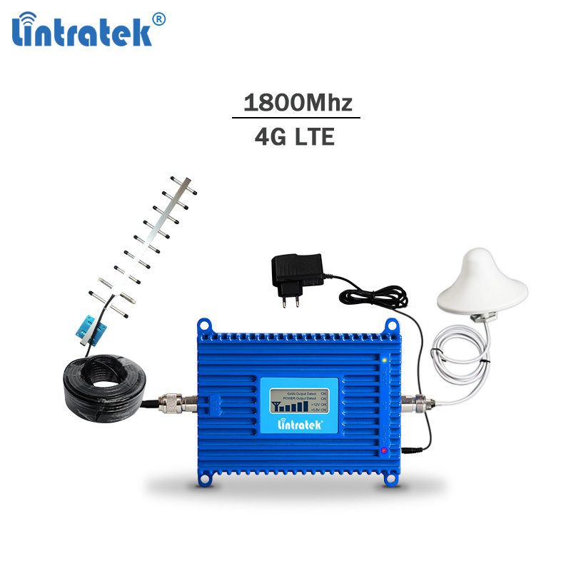 Lintratek 4G LTE 1800Mhz Signal Booster GSM Repeater 1800Mhz 2G 4G Signal Amplifier LTE Repeater Cellphone