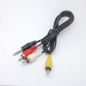 Image 4 - 3.5mm כדי 3 RCA AV/V טלוויזיה וידאו כבל כבל עבור MP3 MP4 PMP מדיה נגן חדש