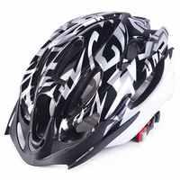 Zwart Cycling Bike Sport Veiligheid Fiets 15 Holes Volwassen Mannen Helm Met Vizier AH1026-A