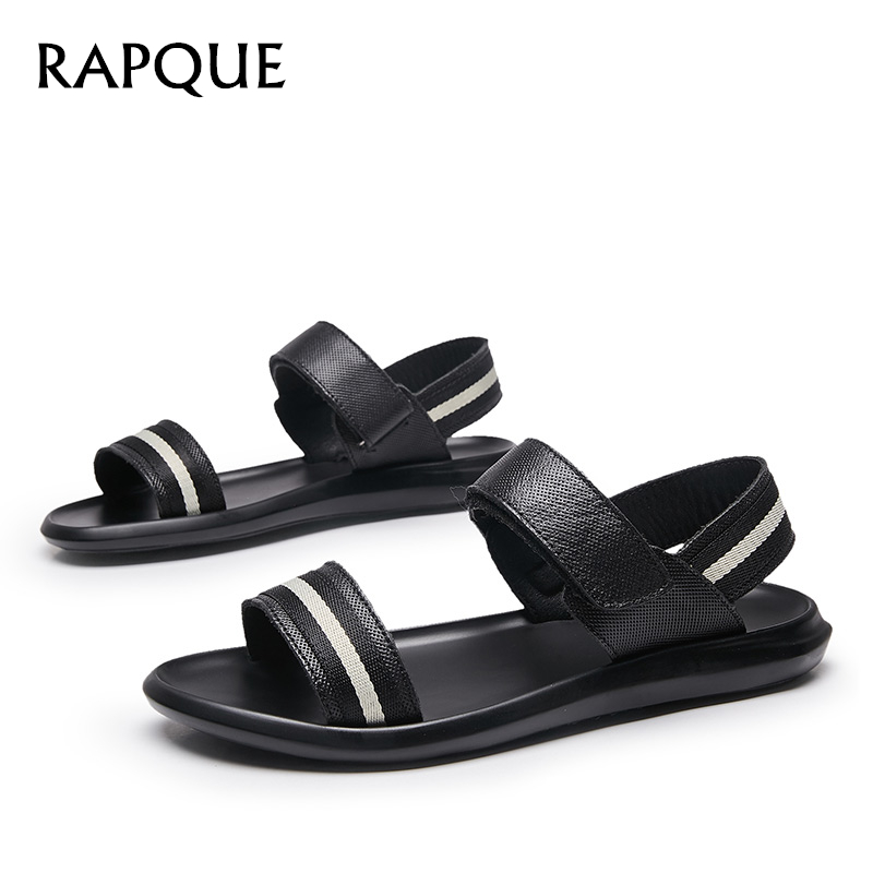 Mens Sandals shoes genuine cow leather Beach Sandal sneakers goods zapatos hombre sapato masculino Designer sandalet 8133 RAPQUE