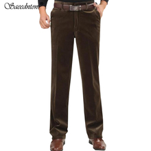 Corduroy Trousers Middle-aged Men Dad Clothing 2019 Autumn And Winter Mens Loose Casual Pants Warm Pantalon Homme