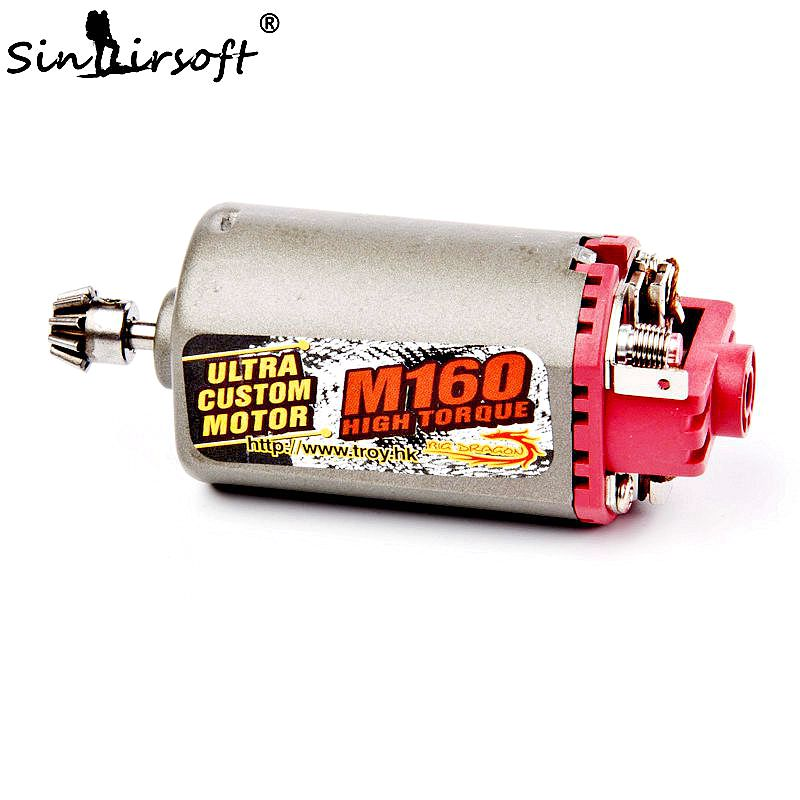 SINAIRSOFT Terminator M160 High Twist Type Speed Torque Motor Motor Short Axle AK Series Used for AEG Hunting Accessories terminator ultra custom m160 high twist type high speed motor high torque aeg motor long axis for airsoft m4 mp5 m16 g3 p90