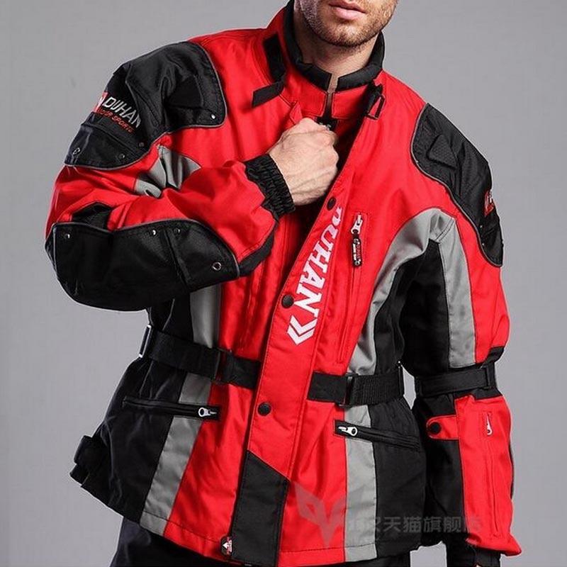 motorcycle DUHAN D-023 jacket for men,oxford motocross riding moto protection Long windbreaker chaqueta warm cotton lining delta d 023