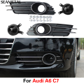 For Audi A6 C7 2012 2013 2014 2015 (ZSB 4GD 807 882B) Car Front Fog Lamp Cover External Decoration Auto Accessories Car-styling