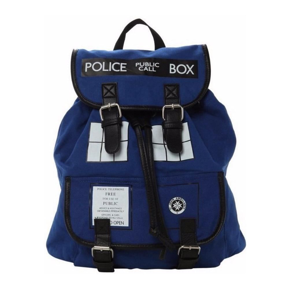 Doctor Dr Who Dee Woman's backpack police box bag birthday gift Blue men double shoulder bag multifunctional travel bag doctor who dr twelfth roger hargreaves
