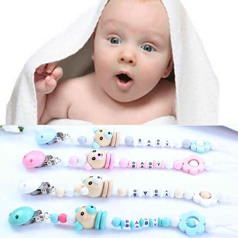 2019 New Newborn Baby Girls Boys Anti-lost Hot Clip Holder Dummy Pacifier Soother Nipple Strap Chain Pop New