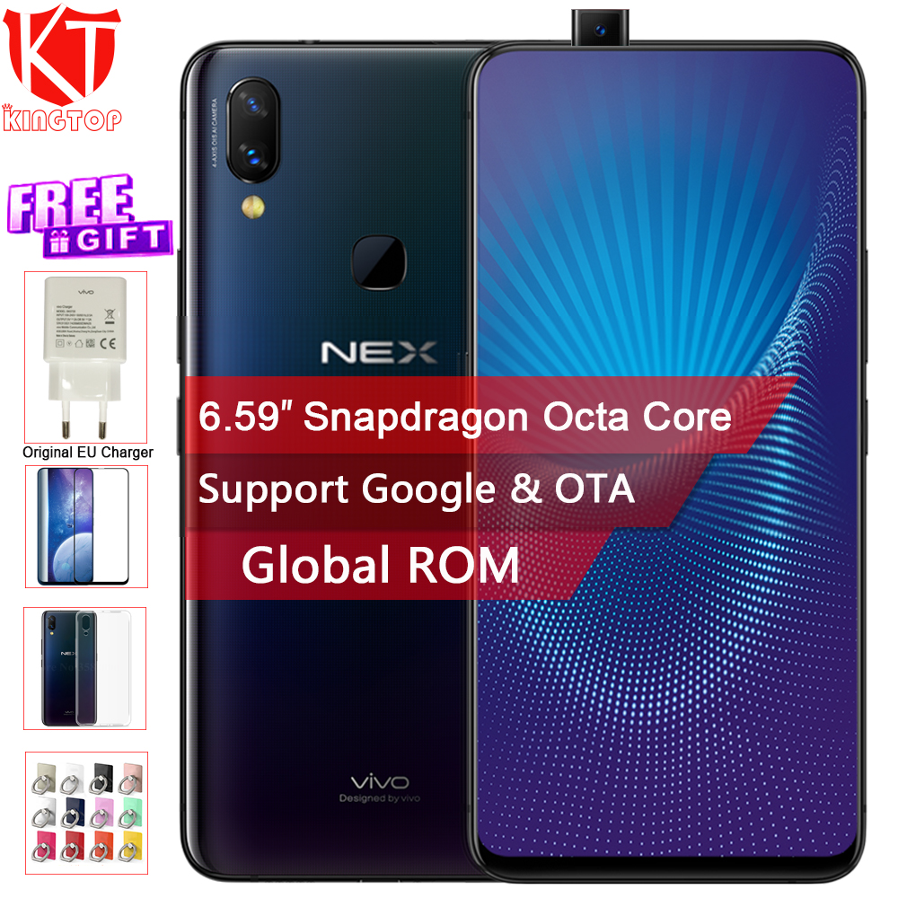 Original Vivo NEX Mobile Phone 6GB/8GB RAM 128GB ROM Octa Core 6.59 Fingerprint Unlock Auto elevated Camera 4000mAh Cellphone