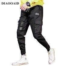 DIAOOAID 2018 nuevo Vintage de los hombres de correa de tobillo Zip  pantalones calle hip-hop hombre hiphop Pantalones 7c7ba16043c