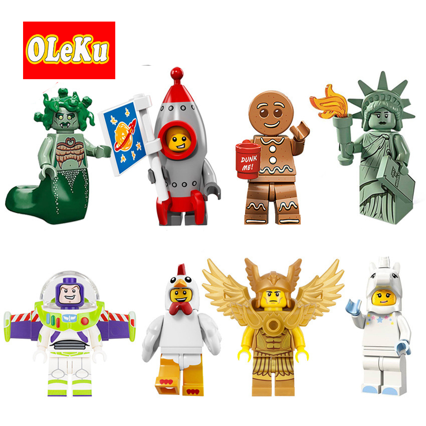Single Sale Figures Medusa Rocket Boy Unicorn Girl Statue of Liberty Inhumans Royal Family Bricks Building