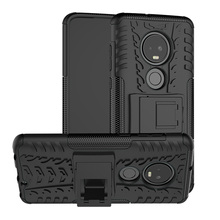 For Motorola Moto G7/G7 Plus XT1965 XT1962 Case Dual Layer Tire Pattern Shockproof Armor Cover With Kickstand G7 Power/G7 Play цена
