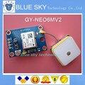 Free shipping ! 10pcs/lot GY-NEO6MV2 new GPS module NEO6MV2 with Flight Control EEPROM MWC APM2.5 large antenna
