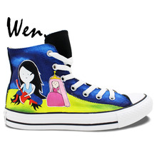 43af3529d50f Wen Hand Painted Shoes Design Custom Adventure Time Men Women s High Top