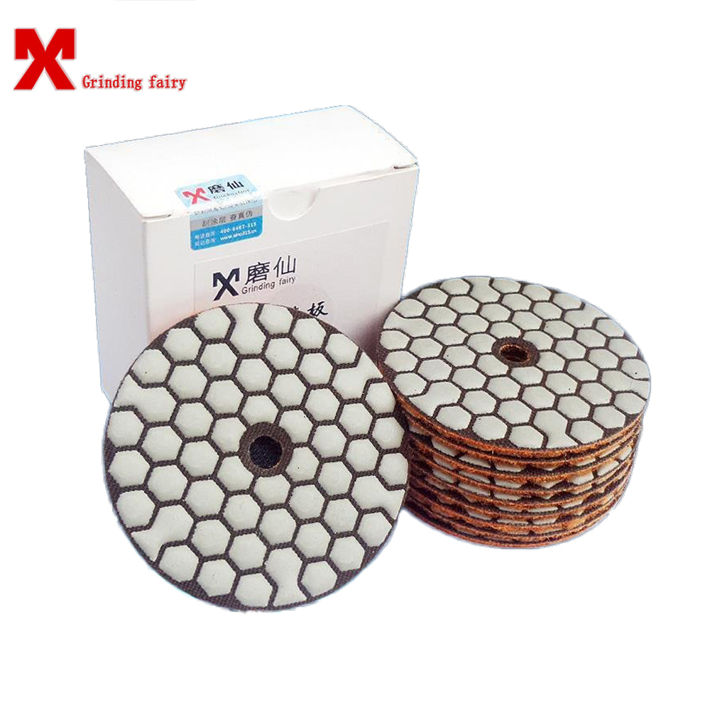 3pcs Dry Grinding Disc Self Adhesive Stone Polishing Soft Grinding Cement Ceramic Renovation Blade For Marble Stone Concrete