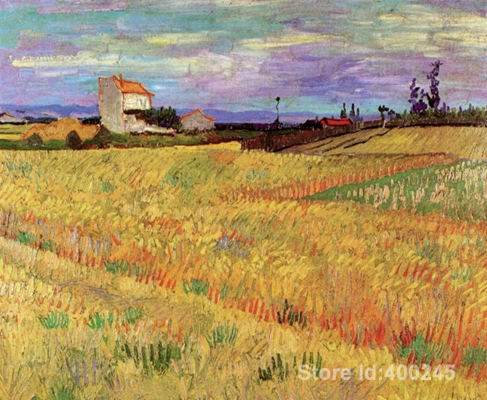 artwork by Vincent Van Gogh Wheat Field Oil painting canvas reproduction High quality Hand painted