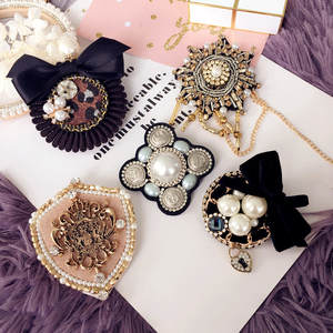 Women Brooches Pins Badge-Coat Pearl Star Metal Accessories-Sw Retro Vintage Wholesale