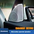 2 pcs Porta Do Carro Cromado Orador Decoração Anel Net Capa Trims Para Mercedes-Benz Classe C C180 C200 W205 300G Carro styling