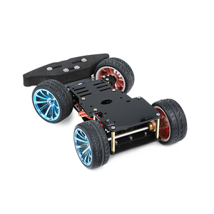 Image 2 - Elecrow 4WD Chassis Smart Car for Arduino Car Platform with Metal Servo Bearing Kit Steering Gear Control DIY 4 Wheel Robot Car
