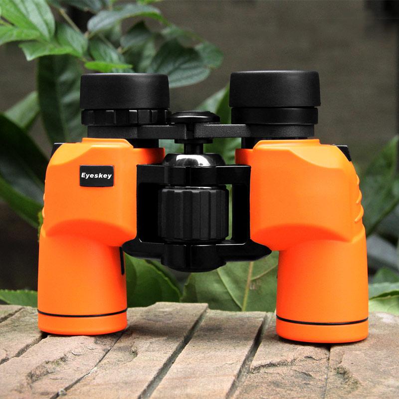 Binoculars 8x30 Eyeskey Porro Waterproof Binoculars Telescope Bak4 Prism Optics Compact for Camping Pink Black Yellow