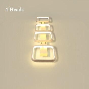 Levou Dispositivo Elétrico De Iluminação Da Luz De Teto Lâmpada Moderna Sala De Estar Quarto Cozinha Surface Mount Painel Flush 3 Cabeça