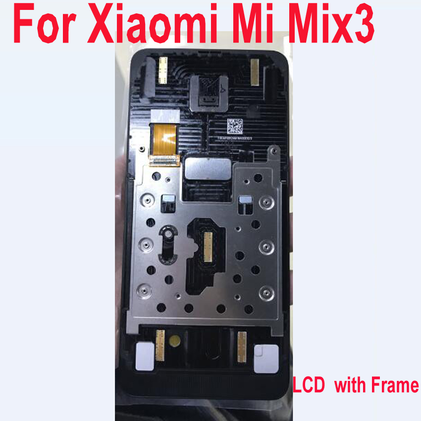 Original AMOLED LCD Sensor For Xiaomi Mi Mix3 MIMIX 3 Mi Mix 3 Display Touch Screen Digitizer Assembly Mobile Panel Parts