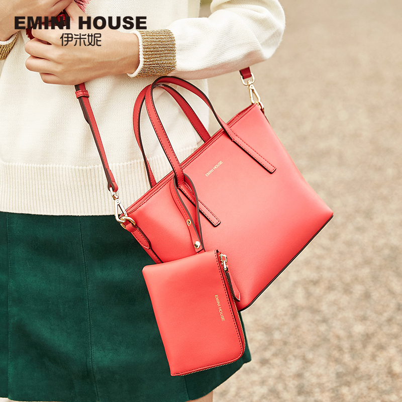 EMINI HOUSE Tote Composite Bag Split Leather Shoulder Women Messenger Bags Ladies Leather Handbags Crossbody Bags For Women emini house indian style bag women messenger bags split leather crossbody bags for women shoulder bag chic chain original design