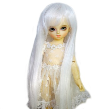 "[ Wamami ] 11 # милый мода белый прямой парик 1/6 SD DOD бжд Dollfie 6 - 7 """