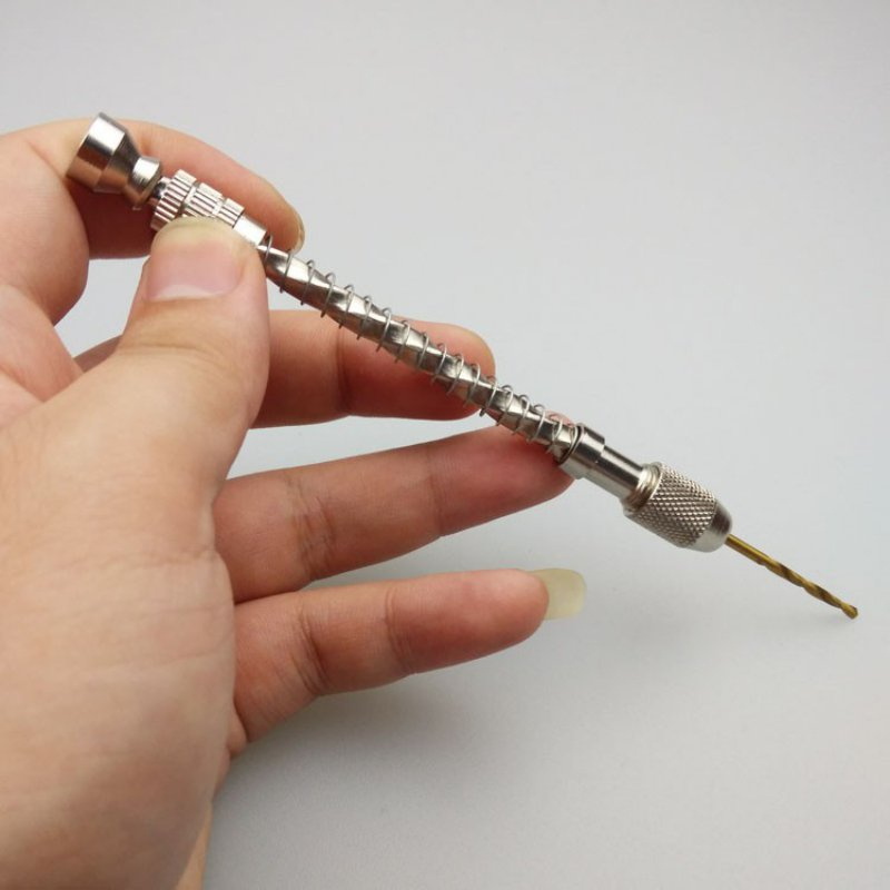 Wood Spiral Hand Drill&Spring Manual Wire Twisting Drilling Jewelry Watch Repair Jewelry Drill Bit Not Including The Drill Bit