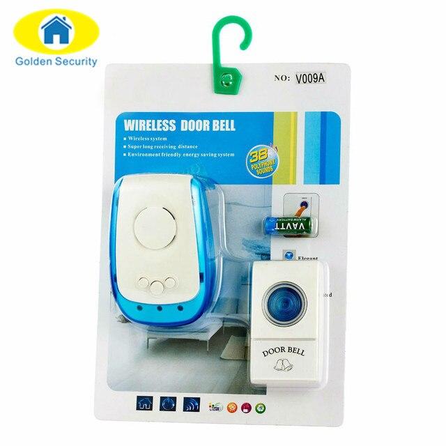 GOLDEN SECURITY Wireless Doorbell Door Bell 150M Range Remote ...