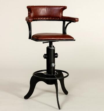 Nordic creative swivel chair. European style chair. American bar chair. 02 real wood bar chair european bar chair iron art chair rotate the front chair