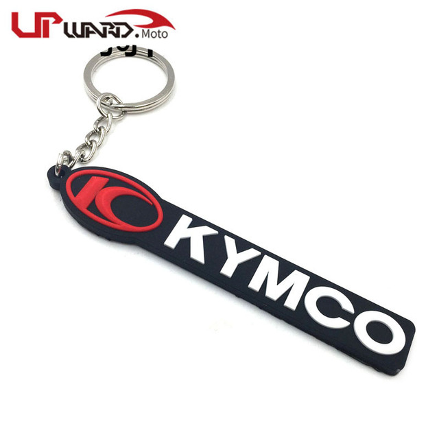 For KYMCO SYM 150 CRUISYM 180 300 MAXSYM 400 600 Benelli 302 Cfmoto Motorcycle Cool Rubber Keychain Key Ring Key chain keyring