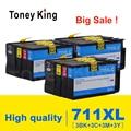 Toney King совместимый с HP 711 полный чернильный картридж для HP 711 Designjet T120 T520 для CZ133A CZ130A CZ131A CZ132A принтер