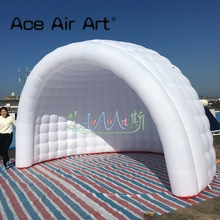 Free shipping giant wedding marquee igloo party tent  white air inflatable dome tent with led lighting circus tent for events