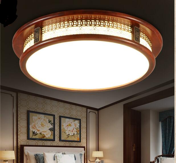 Chinese style LED ceiling lamp creative round solid wood living room lamp book room dining room bedroom ceiling light ZA915519|bedroom ceiling light|ceiling lights|ceiling lamp - title=