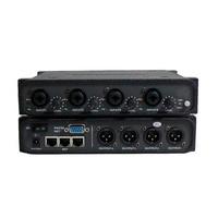 Mejor Dante Audio IP transmisor de red 4 en 4 fuera Dante Audinate interfaz con XLR Control