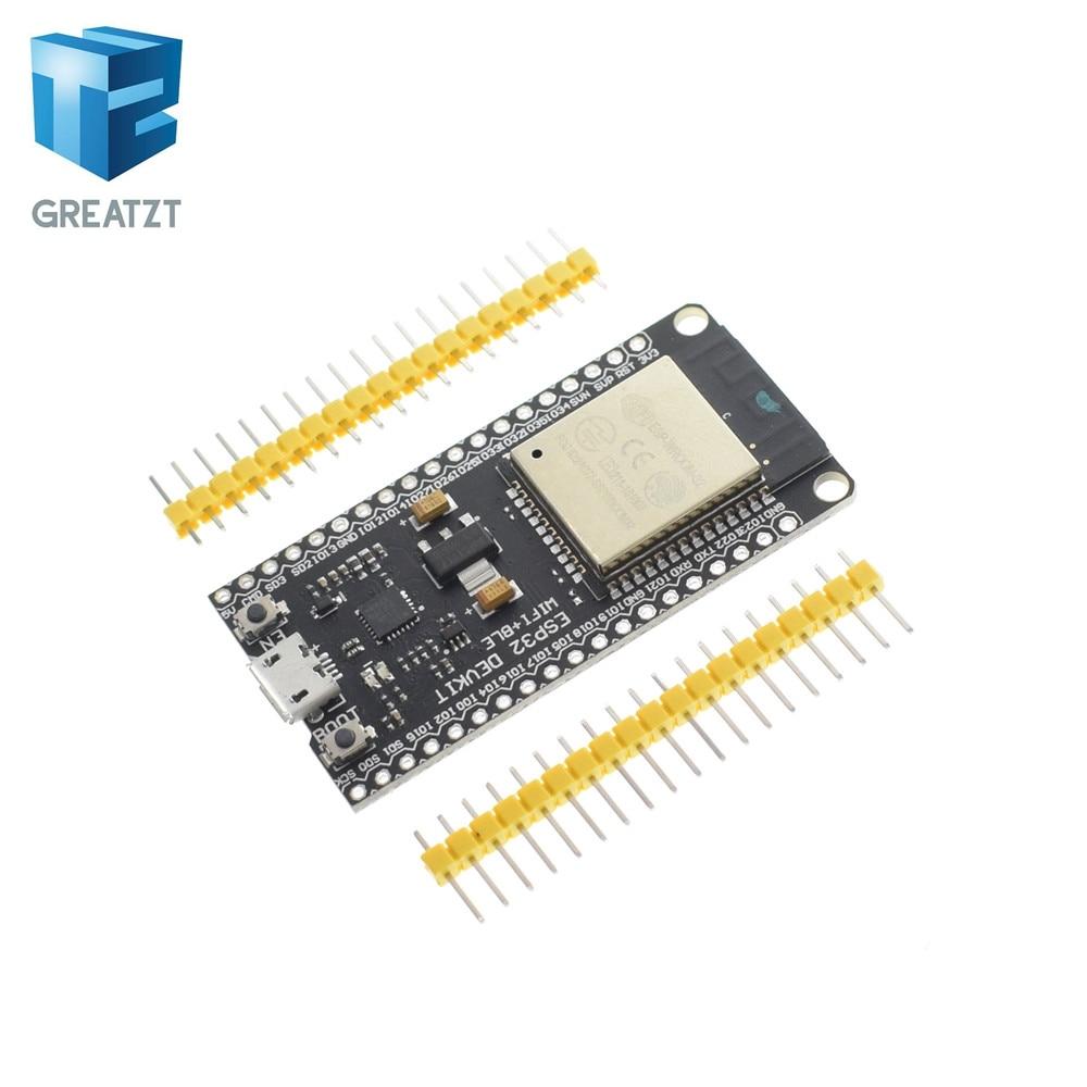 US $6 12 12% OFF|MH ET LIVE ESP32 Development Board WiFi+Bluetooth Ultra  Low Power Consumption Dual Core ESP 32 ESP 32S ESP 32 Similar ESP8266-in