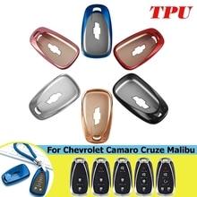 ТПУ корпусы для ключей зажигания корпус Fob оболочки для Chevrolet для Cruze spark camaro вольт болт Trax Malibu стильный аксессуар