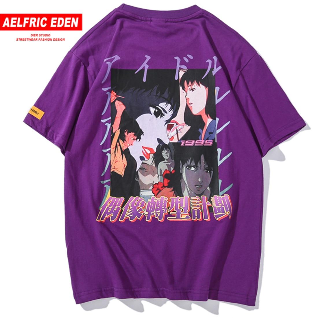 Aelfric Eden Anime 3d Print Fashion T-shirts Men 2019 Summer Short Sleeve Hip Hop Tops Tees Cotton Casual Streetwear Man Tshirt