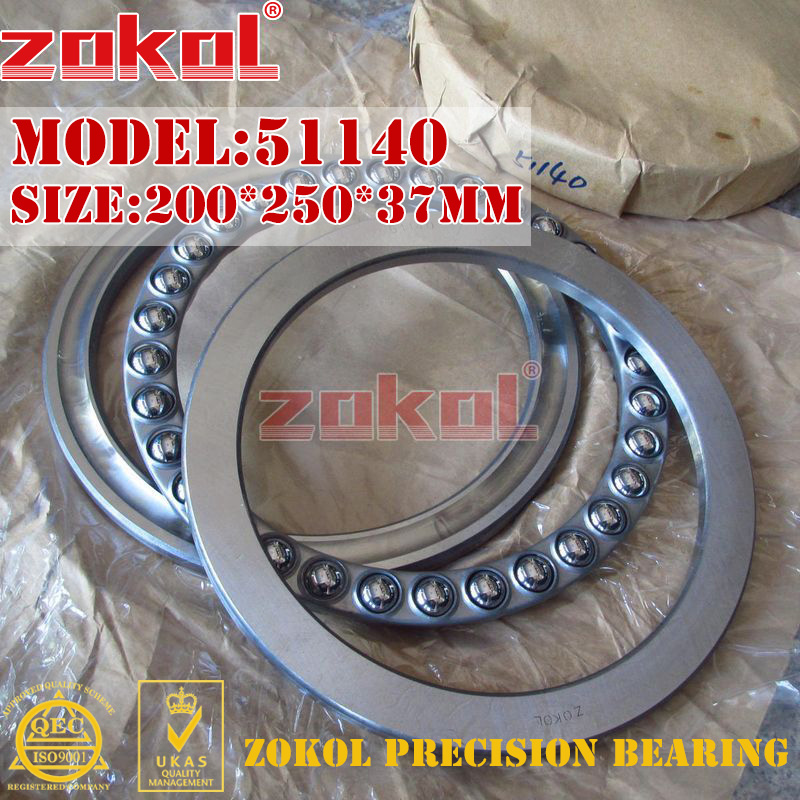 ZOKOL bearing 51140  Thrust Ball Bearing  8140 200*250*37mm zokol bearing 51130 thrust ball bearing 8130 150 190 31mm
