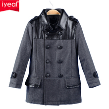 New 2016 Children Wool Coats Outerwear Spring Autumn Boys Jackets Thick Woolen Kids Coat Winter Clothes For Boys