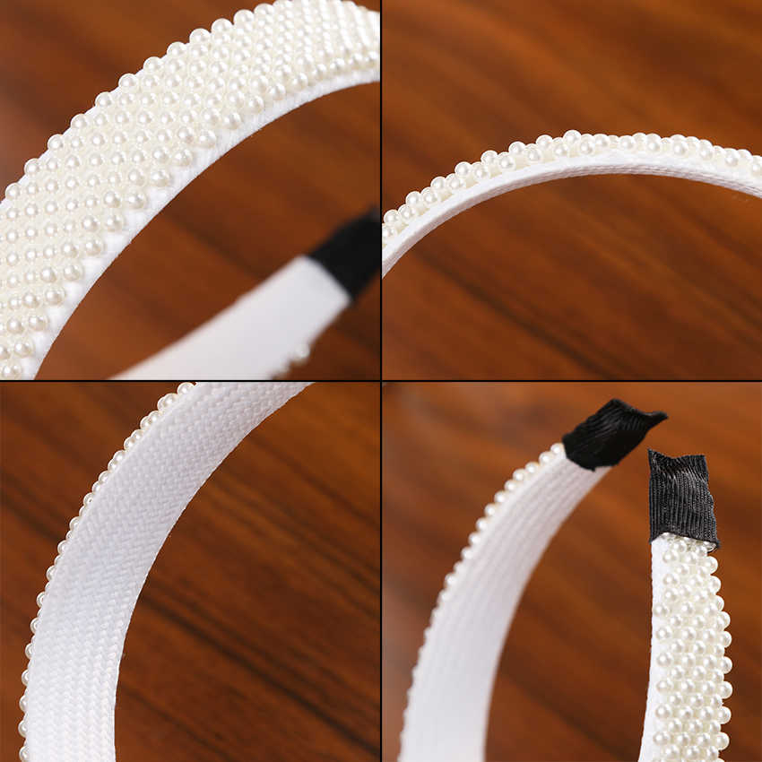 Levao élégant grandes perles de Simulation cheveux cerceau bandeau bandes de cheveux pour accessoire cheveux pour femme perles de perles bandeau accessoires de cheveux